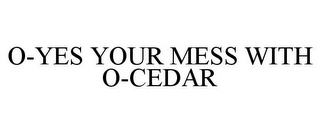 mark for O-YES YOUR MESS WITH O-CEDAR, trademark #85523108