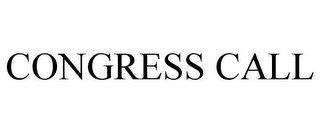 mark for CONGRESS CALL, trademark #85523687