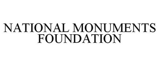 mark for NATIONAL MONUMENTS FOUNDATION, trademark #85523851