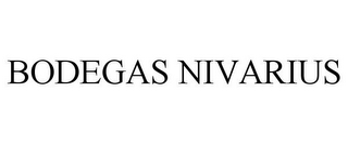 mark for BODEGAS NIVARIUS, trademark #85523945