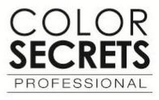 mark for COLOR SECRETS PROFESSIONAL, trademark #85525513