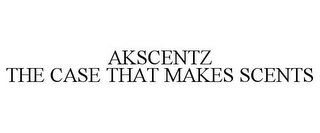 mark for AKSCENTZ THE CASE THAT MAKES SCENTS, trademark #85526270