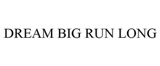 mark for DREAM BIG RUN LONG, trademark #85526605