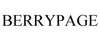mark for BERRYPAGE, trademark #85528003