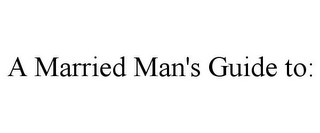 mark for A MARRIED MAN'S GUIDE TO:, trademark #85528529
