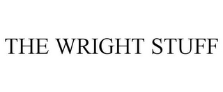mark for THE WRIGHT STUFF, trademark #85529663