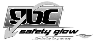 mark for GBC SAFETY GLOW ...ILLUMINATING THE GREEN WAY, trademark #85531062