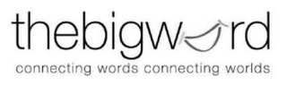 mark for THEBIGWORD CONNECTING WORDS CONNECTING WORLDS, trademark #85531468