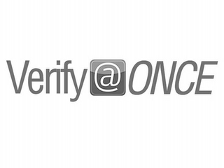 mark for VERIFY @ ONCE, trademark #85531549