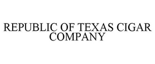 mark for REPUBLIC OF TEXAS CIGAR COMPANY, trademark #85532960