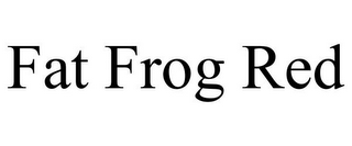 mark for FAT FROG RED, trademark #85533487