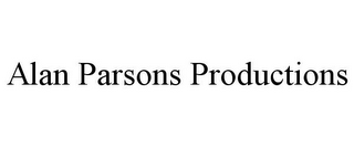 mark for ALAN PARSONS PRODUCTIONS, trademark #85534178
