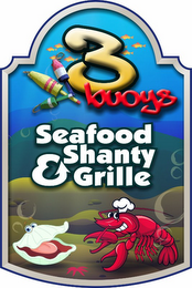 mark for 3BUOYS SEAFOOD SHANTY & GRILLE, trademark #85534217