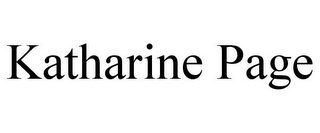 mark for KATHARINE PAGE, trademark #85534495