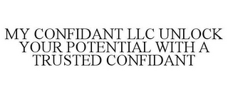 mark for MY CONFIDANT LLC UNLOCK YOUR POTENTIAL WITH A TRUSTED CONFIDANT, trademark #85534619