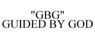 "mark for ""GBG"" GUIDED BY GOD, trademark #85535005"