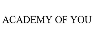 mark for ACADEMY OF YOU, trademark #85536977