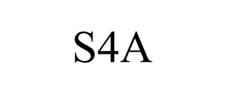 mark for S4A, trademark #85537374