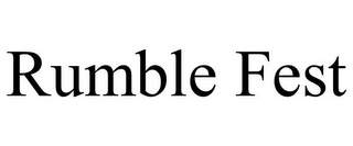 mark for RUMBLE FEST, trademark #85537915