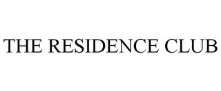 mark for THE RESIDENCE CLUB, trademark #85538011