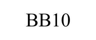mark for BB10, trademark #85538079