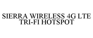 mark for SIERRA WIRELESS 4G LTE TRI-FI HOTSPOT, trademark #85538684