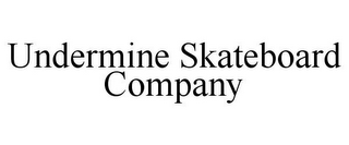 mark for UNDERMINE SKATEBOARD COMPANY, trademark #85538796
