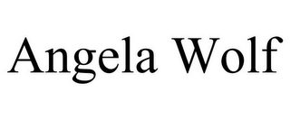 mark for ANGELA WOLF, trademark #85539718