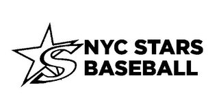 mark for S NYC STARS BASEBALL, trademark #85540015