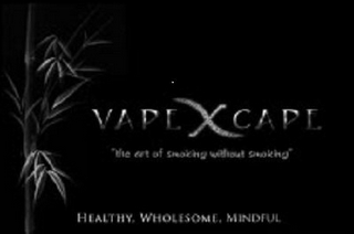 "mark for VAPEXCAPE ""THE ART OF SMOKING WITHOUT SMOKING"" HEALTHY, WHOLESOME, MINDFUL, trademark #85540622"