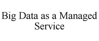 mark for BIG DATA AS A MANAGED SERVICE, trademark #85540728