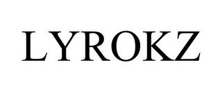 mark for LYROKZ, trademark #85541599