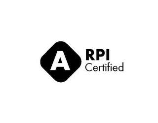 mark for A RPI CERTIFIED, trademark #85542235