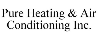 mark for PURE HEATING & AIR CONDITIONING INC., trademark #85542678