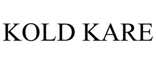 mark for KOLD KARE, trademark #85543372