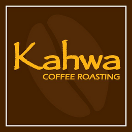 mark for KAHWA COFFEE ROASTING, trademark #85543397