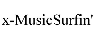 mark for X-MUSICSURFIN', trademark #85543633
