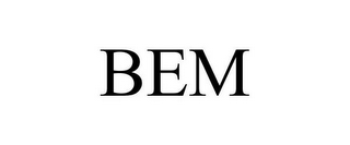 mark for BEM, trademark #85543672