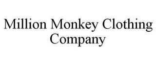 mark for MILLION MONKEY CLOTHING COMPANY, trademark #85543680