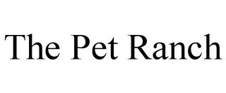 mark for THE PET RANCH, trademark #85544330