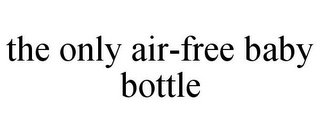 mark for THE ONLY AIR-FREE BABY BOTTLE, trademark #85545522
