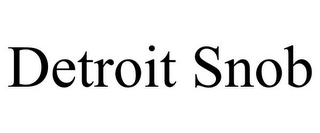 mark for DETROIT SNOB, trademark #85546015