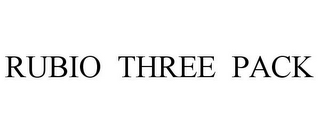mark for RUBIO THREE PACK, trademark #85546193