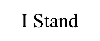 mark for I STAND, trademark #85546810