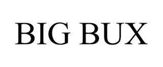 mark for BIG BUX, trademark #85547362