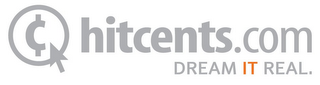 mark for HITCENTS.COM DREAM IT REAL., trademark #85547589