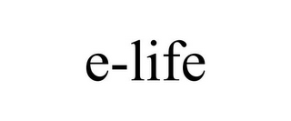 mark for E-LIFE, trademark #85548705