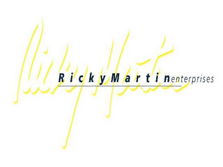 mark for RICK MARTIN RICKY MARTIN ENTERPRISES, trademark #85549575