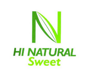 mark for N HI NATURAL SWEET, trademark #85549678