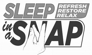 mark for SLEEP IN A SNAP REFRESH RESTORE RELAX, trademark #85550804